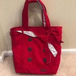 OGIO red button tote bag